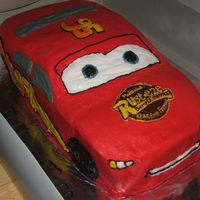 Lightning Mcqueen This was made for my best friends nephew. I am very happy with the way it came out except the frosting could have been smoother. Needless...