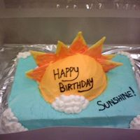 Sunshine I made this cake for a co-worker. I alway call her sunshine because she says she hates sunny days. She absolutely loved the cake and was...