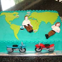 Tommy's Long Way Round Cake My son is a big fan of the motorcycle adventures of Ewan McGregor and Charley Boorman. He planned his 6th birthday party based on their...