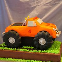 Monster Truck This is my nephew's birthday cake. He is a huge monster truck fan. Thanks to kim2462 for her kind help with this! It was fun to make...
