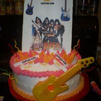 Guitar God/kiss Fan Birthday Cake For My Hubby My husband turned 39 and asked me for a cake the day before (after he repeatedly denied for months that he wanted a cake). So, since he...