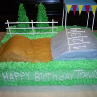 Dirt Bike Race Track Cake This is my version of Cinda's Creative Cakes dirt bike race track cake. A co-worker really loved the look of the cake and she added...