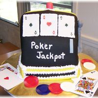 Poker Machine   3D cake covered with fondant