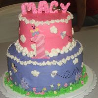 Macy 1St Birthday all butercream with white choc. accents