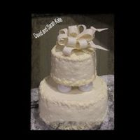 David And Sarah Kate Bridal Shower two tiered with the new wilton globe seperator set. bottom tier is pound cake filled with sweetned vanilla whipped cream and fresh...