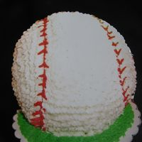 Baseball Cake For Dad's Birthday I made this cake for my dad's birthday because he LOVES baseball. It was a carrot cake with cream cheese frosting. I used the wilton...