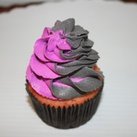 Purple And Grey Cupcake