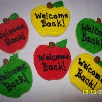 Apple Cookies/back To School Sugar cookies with buttercream frosting.