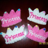 Princess Cookies Sugar cookies with buttercream frosting.