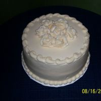 Sample Wedding Cake This is a lemon cake with buttercream frosting.