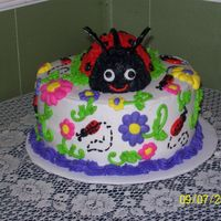 Ladybug Cake This cake is an 8 inch round, done in buttercream. I did this cake for a church auction. The money raised will go to missions. It was a joy...