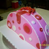"Purse Cake Credit goes to Gourmetcakes....I found her pic on CC and had to try it. Cake is 12"" round cut in half....WASC with out the ""A&..."