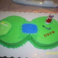 Golf Chocolate cake with BCD...fondant accents.