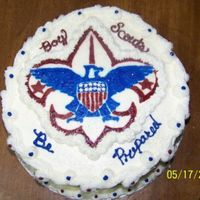 Boy Scouts Of America Emblem FBCT And after I got the cake done, DH tells me the eagle is facing the wrong way. I have to remember that when I doing the FBCT that I...