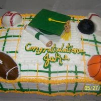 Graduation Cake I would like to thank Jenncowin, I got this idea from one of her cakes. This cake was such a problem!!! Buttercream icing with rolled...