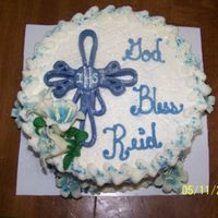 Boys Communion Cake  I'd like to thank Junecakes for posting her pic on CC. It inspired me to create this boys communion cake this past weekend....