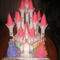 Castle Cake This is my version of the Barbie Diamond Castle made for my daughters birthday