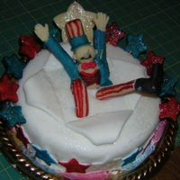 4Th Of July This is my uncle sam cake that i made for our spring ho.(our yearly county fair) I won 1st place and best or show..it was my first...