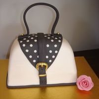 Tania's Bag Cake   This is the second of three cakes for a polka dot mad friend.