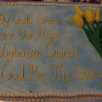 Church Plant Cake Gumpaste Tulips (to signify Calvin's acronym)