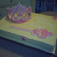 Princess Emily   Niece's birthday, royal icing tiara and scepter.