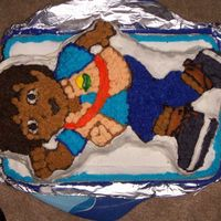 Diego Cake! I used the diego shaped pan and starred it all with buttercream frosting... my friends loved it!!!