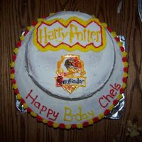 Harry Potter Cake! My friend Chelsea loves harry potter espically gryffinodor