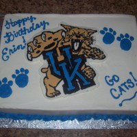 Erin's Uk Wildcats Cake 2009