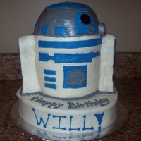 R2D2 All buttercream 3D R2D2 cake