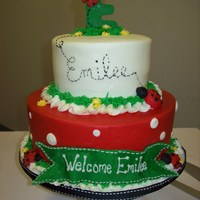 Emilee's Ladybug Baby Shower Cake Ladybug baby shower cake inspired by a cake from Cakes by Ashley.