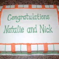 Natalie And Nick Shower Cake