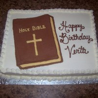 Bible Birthday Cake