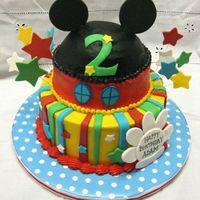 Mickey Mouse Clubhouse Buttercream with fondant accents