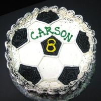 Soccer Ball I also did a soccer cake for this child last year, so had to come up with something different...