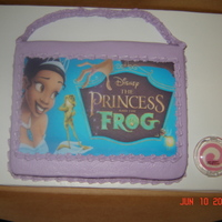 Princess And The Frog Purse   my daughter's 5th birthday cake...she loves the princess and the frog
