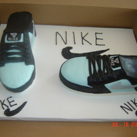 Nike Shoes All buttercream, all freehand. Carved from a 11x15....longgggggggggggg time to decorate. Loved the outcome