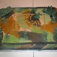Little Boy's Army Birthday Cake