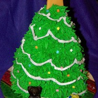 3D Christmas Tree made this for cake raffle at kids school. TFL