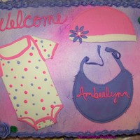 Pink & Purple Baby Shower Made this for a friend. Thanks to everyone that posted ideas on here that I drew my inspiration from. 11x15 1/2 white 1/2 chocolate with...