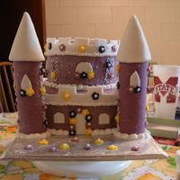 Castle Cake Cake done for a little girl's birthday party. She loves pink and princesses, so the cake was very special to her.