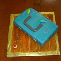 Tackle Box Took inspiration from several versions of this cake. This was a last minute birthday cake, red velvet and cream cheese icing. Covered in...