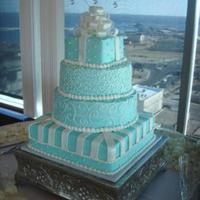 Blue Box Wedding Cake