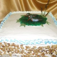 Wood Duck Cake gumpaste wood ducks on a corrot cake w/ cream cheese icing loved this cake