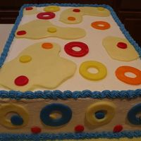 Just Fun Colors show cake stryofoam-with buttercream and fondant. i won 3rd place in the beginners cat. for this
