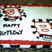 Earnhardt vanilla ckake with buttercream
