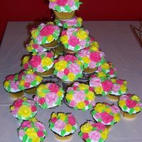 Flowery Cupcake Tree I decorated these cupcakes for my daughter's 3rd birthday. She had a Disney Princess-themed party, but she wanted cupcakes with...