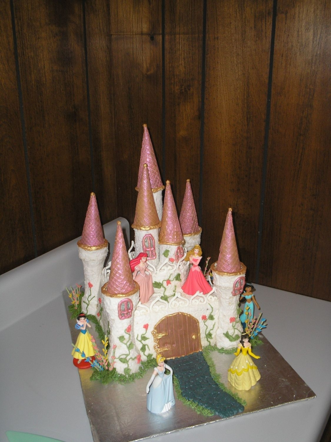 Princess Castle Cake  I am a new member of this site after searching all the great ideas for castles located here! This is my first castle cake that was inspired...