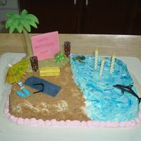 Beach Birthday Cake For Mom