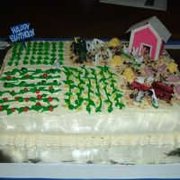 Hubby's Farm Birthday Cake