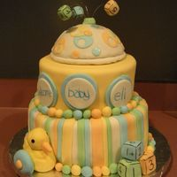 Baby Shower   Covered in fondant with fondant accents